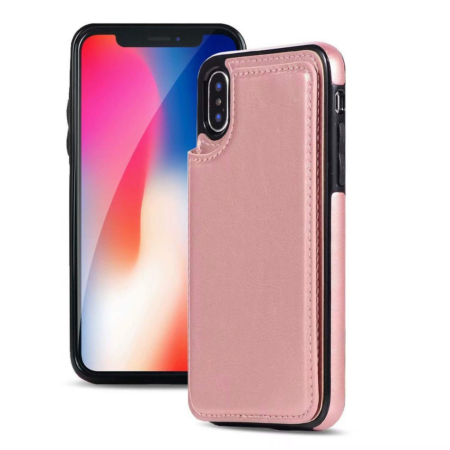 buy popular c85bb a884b Amazon.com: Cases for iPhone X 8 7 6S 6 Plus Fashion Leather Phone ...