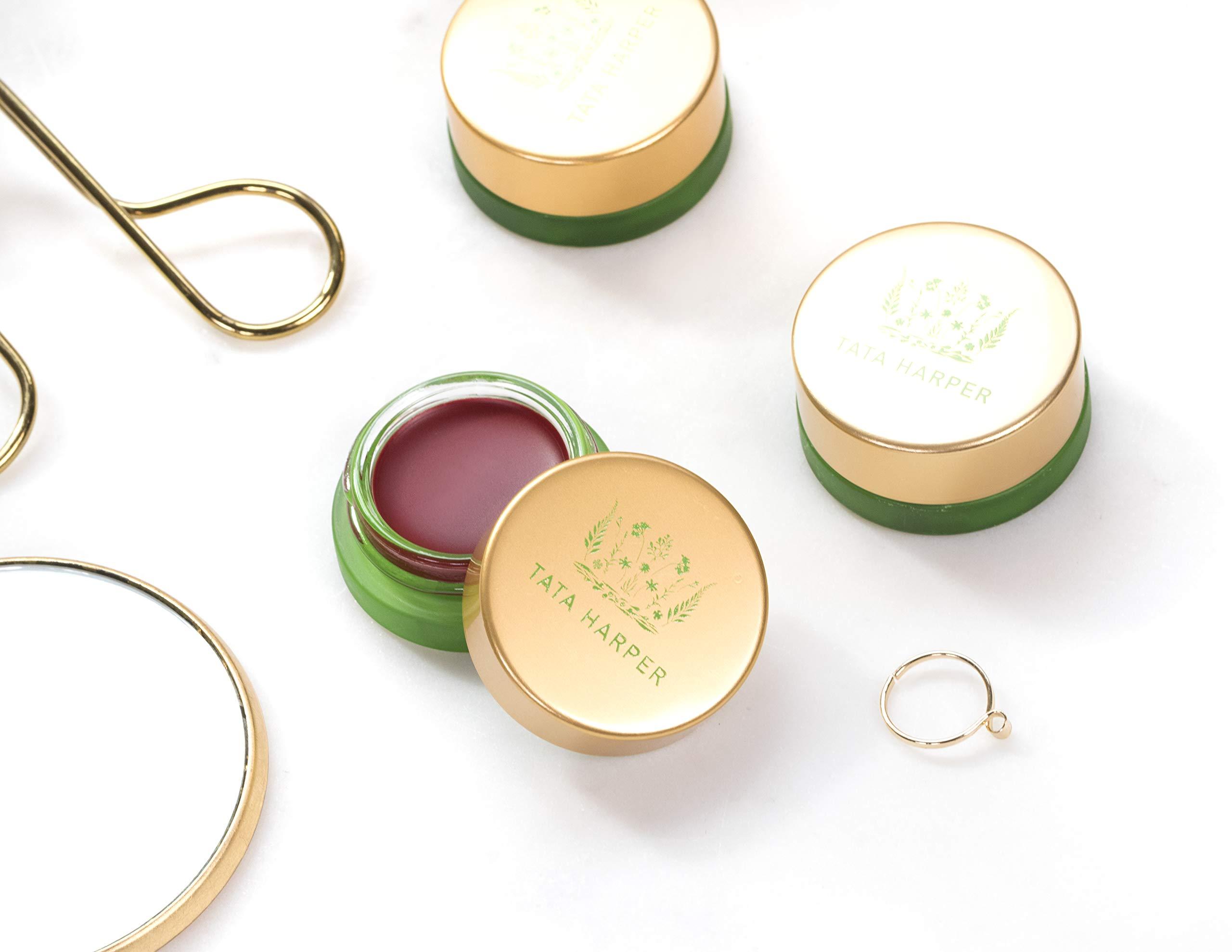 Tata Harper Volumizing Lip and Cheek Tint - Very Naughty | 100% Natural & Nontoxic | Ruby Red Cheek & Lip Tint | 4.5g by Tata Harper