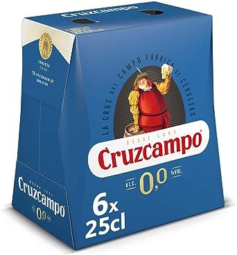 Cruzcampo 00 Cerveza - Pack de 6 Botellas x 250 ml (Total: 1.5 L ...