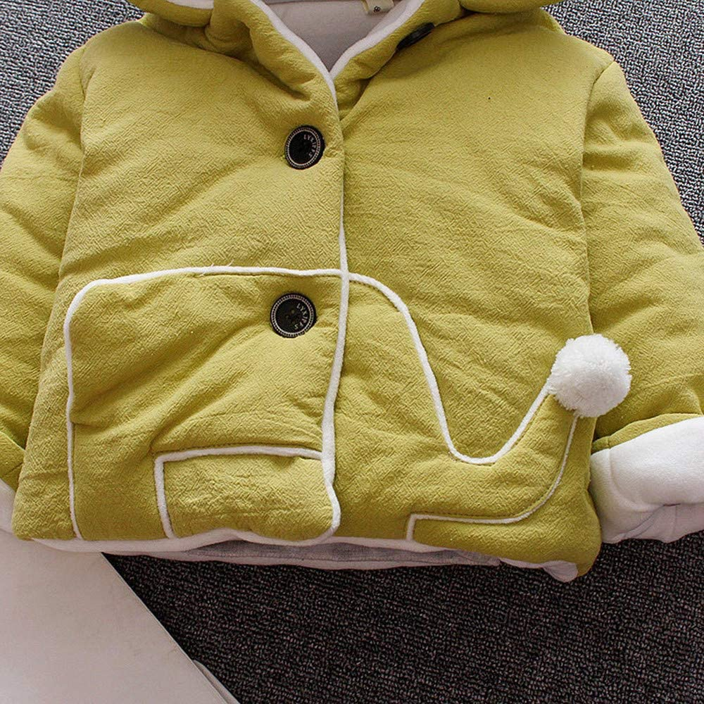 GorNorriss Baby Girl Coat Kids Winter Cartoon Cloak Jacket Thick Warm Hooded Outerwear Clothes