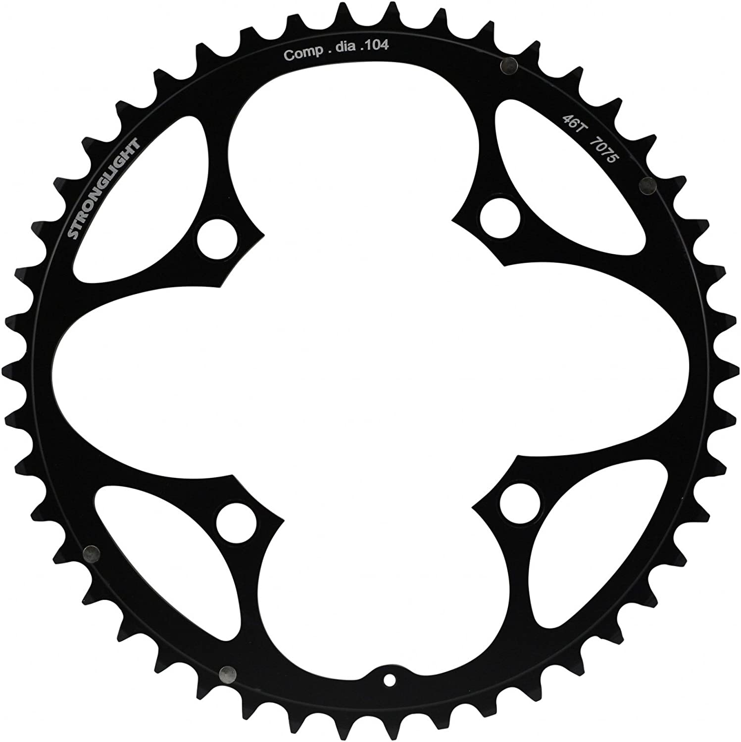 STRONGLIGHT chainring 4 arm 104mm bolt circle black various Sizes
