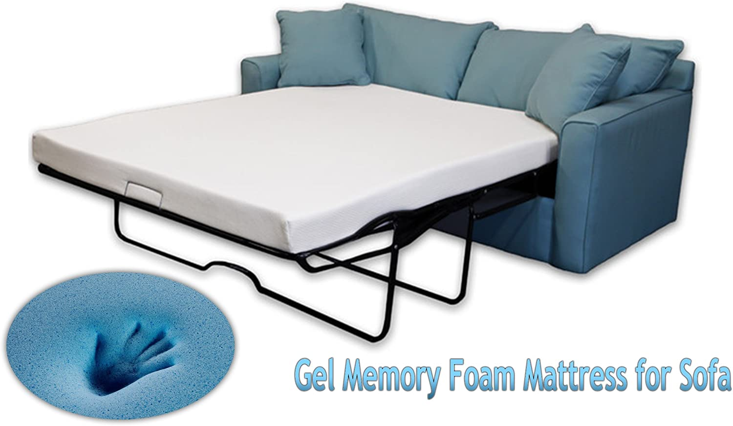 DynastyMattress 4.5-inch Gel Memory Foam Sofa Mattress