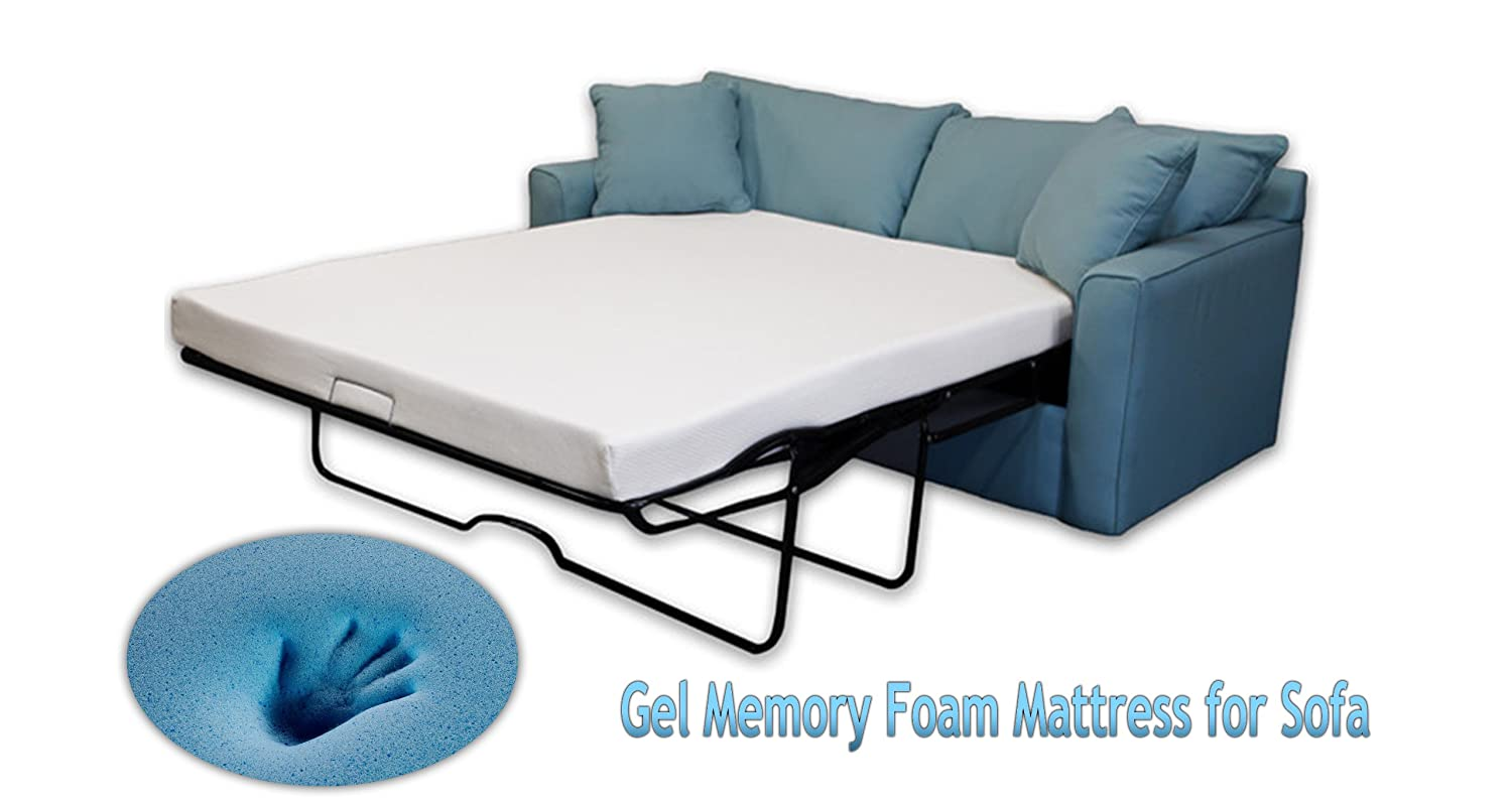 Amazon.com: DynastyMattress 4.5-inch Gel Memory Foam Sofa Mattress-FULL Size:  Kitchen & Dining