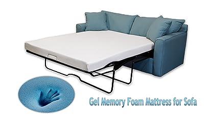Amazon Com Dynastymattress 4 5 Inch Gel Memory Foam Sofa Mattress