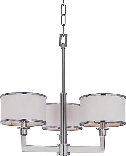 Amazon maxim lighting 12054wtsn nexus 3 light chandelier satin maxim lighting 12054wtsn nexus 3 light chandelier satin nickel finish with white fabric shades mozeypictures Gallery