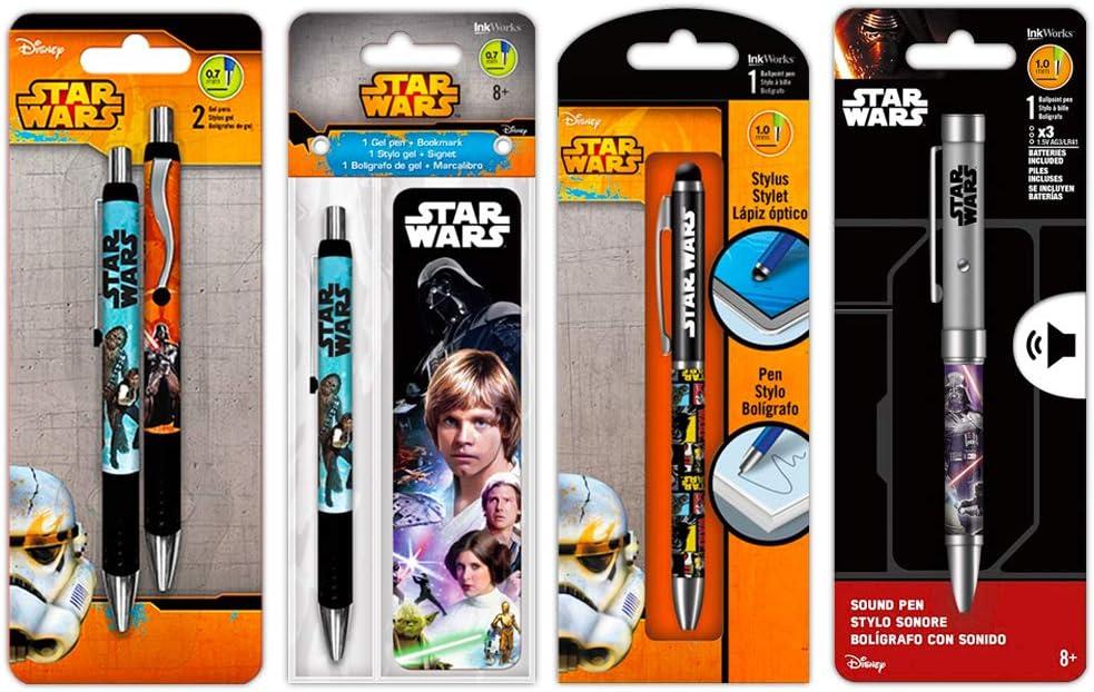 Star Wars Pen Set, 5 Pc -- 4 Deluxe Star Wars Pens and 1 Projector Pen (Star Wars Office Supplies)