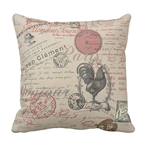 Kinhevao Throw Pillow Writing Vintage French Handwriting ...