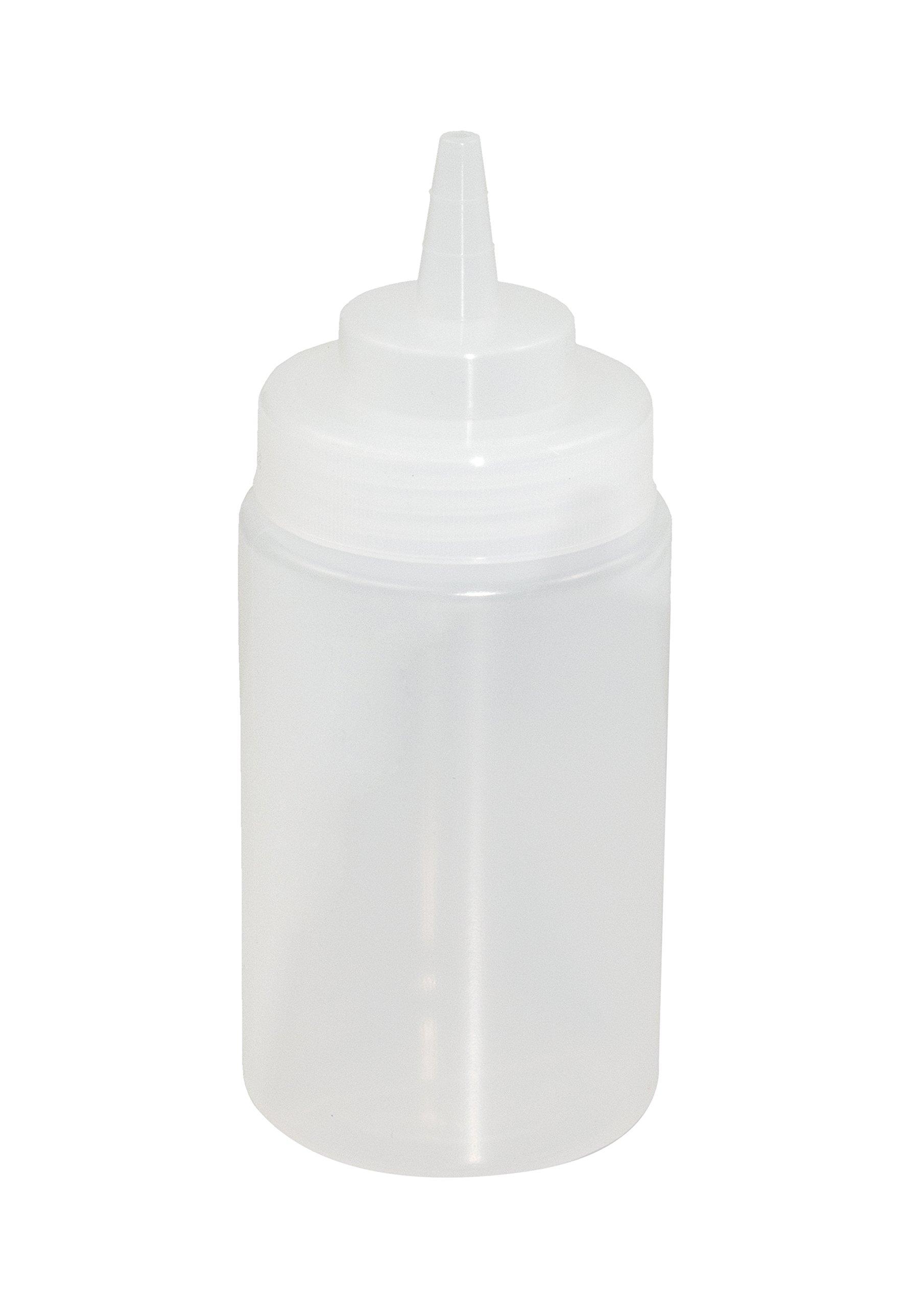 Crestware SB12CW Squeeze Wide Mouth Bottle (3 Dozen), 12 oz, Clear by CRESTWARE