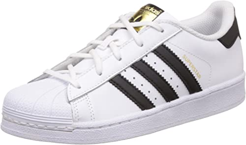 Adidas Superstar Foundatio Sneakers Basses, Mixte Enfant, blanc, M