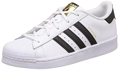finest selection 4fc35 5cf01 adidas Originals Unisex Superstar Foundation C Ftwwht, Cblack and Ftwwht  Leather Sneakers