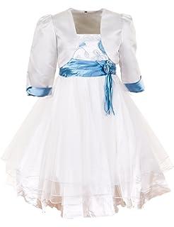 6bdabb448d8 Prelest Festliches Mädchen Blumenmädchen Kleid mit Bolero aus Chiffon Tüll  Satin