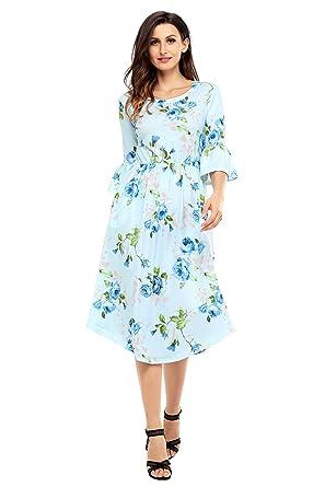 Summer floral dresses for women