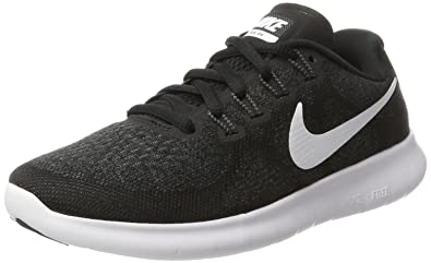 Nike Women's Free RN 2 Running Shoe Black/White/Dark Grey/Anthracite 5