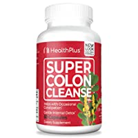 Health Plus Super Colon Cleanse: 10-Day Cleanse -Detox |  More than 1 Cleanse, 60...