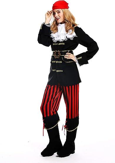 dressmeup - W-0210-S/M Disfraz Mujer Feminino andrógino Pirata ...