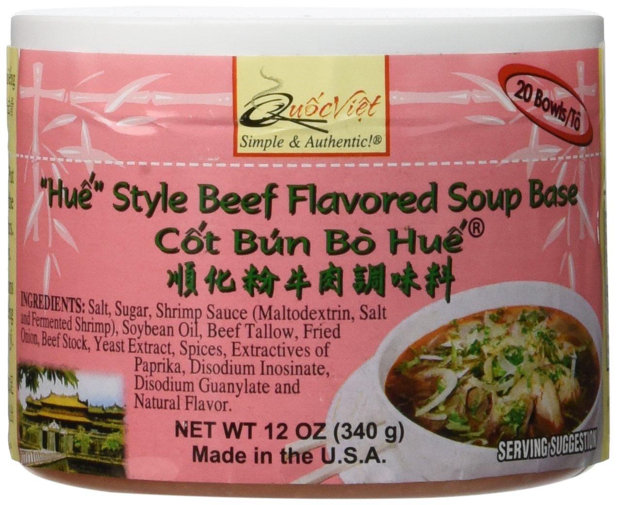 Quoc Viet Foods ''Hue'' Style Beef Flavored Soup Base, 12 oz jar (1 unit) by Quoc Viet Foods