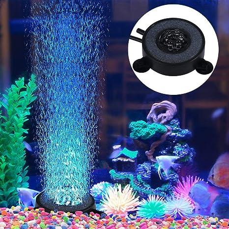 Yosoo Acuario burbuja de aire Piedra Fish Tank burbuja decorativa adornos, enchufe del Reino Unido