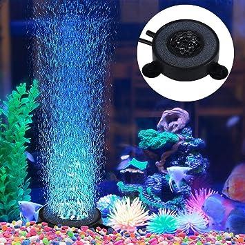 Yosoo Acuario burbuja de aire Piedra Fish Tank burbuja decorativa adornos, enchufe del Reino Unido): Amazon.es: Productos para mascotas