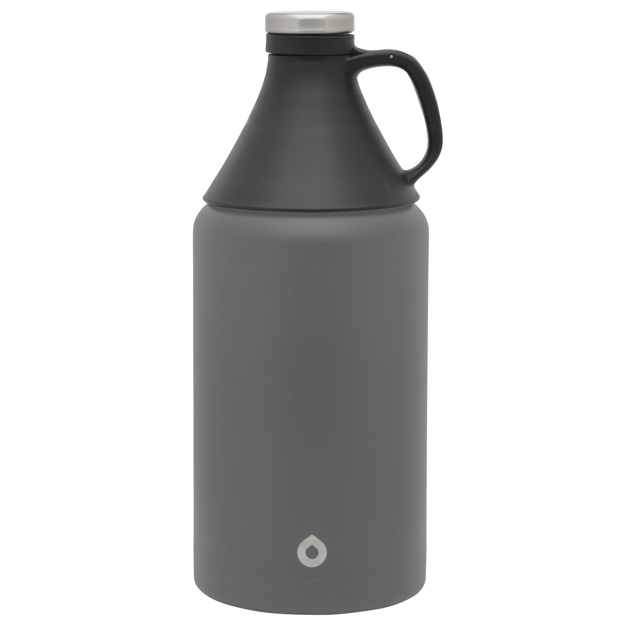 GoBottle 40480  Double Wall, Vacuum Insulated Stainless Steel Growler with Airtight Seal for Beer, Water, Coffee, and more, 64oz, Black