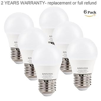 Amazon.com: kinfuton G14 3 W foco LED, luz blanca, 5000 K ...