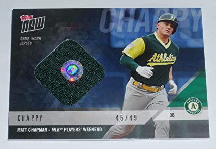 da3cd10c230527 Image Unavailable. Image not available for. Color: MATT CHAPMAN 2018 TOPPS  NOW A's GAME USED ...