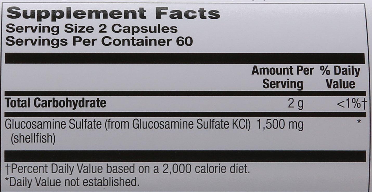 Solaray Glucosamine Sulfate Capsules, 1500mg, 120 Count by Solaray (Image #2)