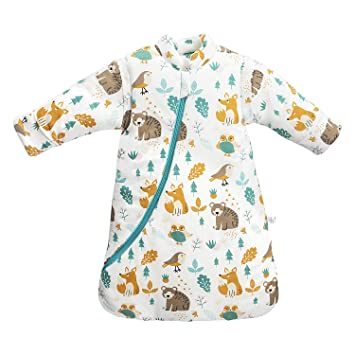 viele Stile neue Liste 100% echt Baby Winter schlafsack Kinder schlafsack 3.5 Tog Schlafsaecke aus Bio  Baumwolle Verschiedene Groessen von Geburt bis 4 Jahre alt (S/3-6Monate, ...