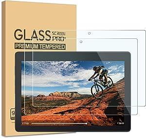 [2-Pack] PULEN Screen Protector for Lenovo Tab E10 2018,Easy Installation Anti-Fingerprints 9H Hardness Bubble Free Tempered Glass Film for Lenovo Tab E10 TB-X104F