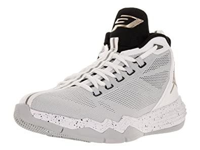 reputable site c5d96 21b75 Jordan Men s CP3. IX AE Basketball Shoes-White Pure Plantinum Black-