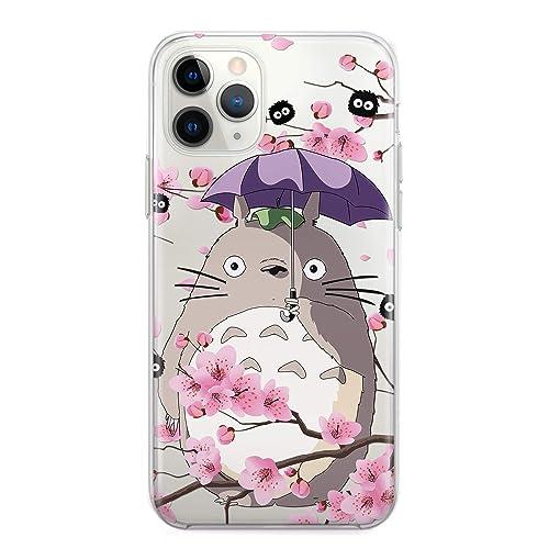 My Neighbor Totoro Cell Phone Case Anime iPhone 7 8 6 6s plus X Xs 12 Mini 11 Pro Max Xr 5 5s se 2 2020 5se 4 4s Sootballs Soot Sprite Sakura Cherry ...