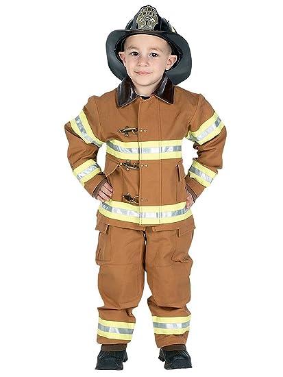 JR. Traje de bombero con bordado Cap: Amazon.es: Juguetes y ...