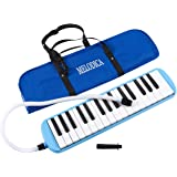 Melodica Keyboard - 32 Key Piano Style Melodion, Students Musical Instrument Suitable for Beginners and Children with Carrying Bag, Blue, 16.46 x 1.77 x 3.98 Inches