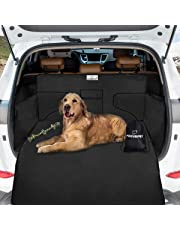 Car Boot Cover for Dogs, Focuspet Dog Cargo Liner Cover Pet Seat Cover Car Boot Protection Nonslip Waterproof Dirt Resistant Rear Seat with Side Protection 185*105*36 CM Universal for Car SUV Truck