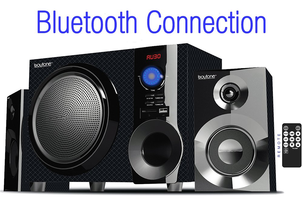 Boytone BT-210FD, Ultra Wireless Bluetooth Main unit, Powerful Sound with Powerful Bass System 30 watt, Excellent Quality Clear Sound & FM radio, with Remote Control Aux Port, (Renewed) by Boytone