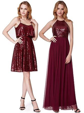 Ever Pretty Sleeveless Sequin Floor Length Christmas Beautiful