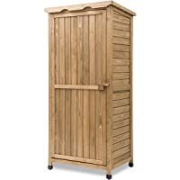 Leisure Zone Outdoor Wooden Garden Storage Shed Lockers Fir wood with Workstation