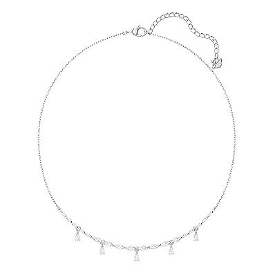 9a6fa426c Swarovski Louison Necklace, Small, White, Rhodium Plating: Amazon.co.uk:  Jewellery