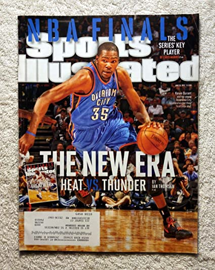 Kevin Durant Oklahoma City Thunder Vs Miami Heat The New Era Sports Illustrated June 18 2012 Nba Finals Si At Amazon S Sports Collectibles Store