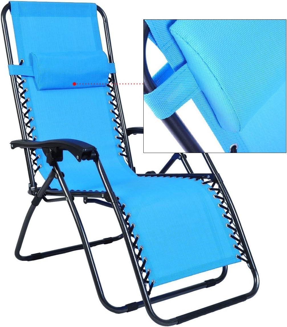 Odaof Zero Gravity Chair Light Blue Set of 2