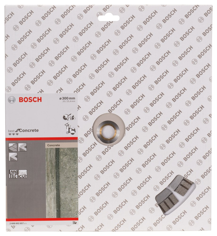 2608602657 BOSCH 300 X 20/25.4MM DIAMOND CUTTING DISC BEST CONCRETE by Bosch (Image #2)