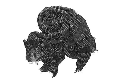 Sciarpa donna uomo ROMEO GIGLI nera pashmina con frange box confezione