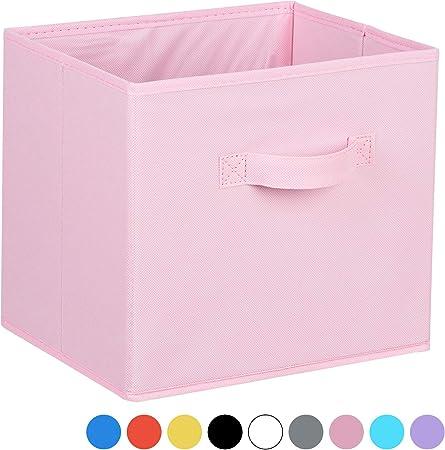 Hartleys Boite De Rangement En Toile Pour Unites Cube De 2 3 Et 4 Niveaux Rose Amazon Fr Cuisine Maison