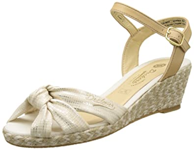 36IS202-680920, Sandales Bout Ouvert Femme, Or (Gold), 40 EUDockers by Gerli