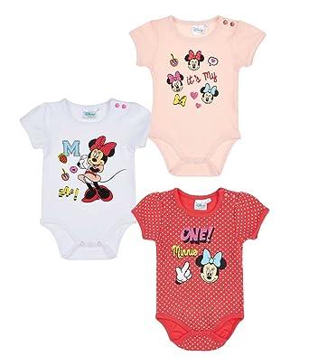 Minnie LOT 3 Bodys 3 6 12 18 24 Mois  Amazon.fr  Vêtements et ... 28dcae68078