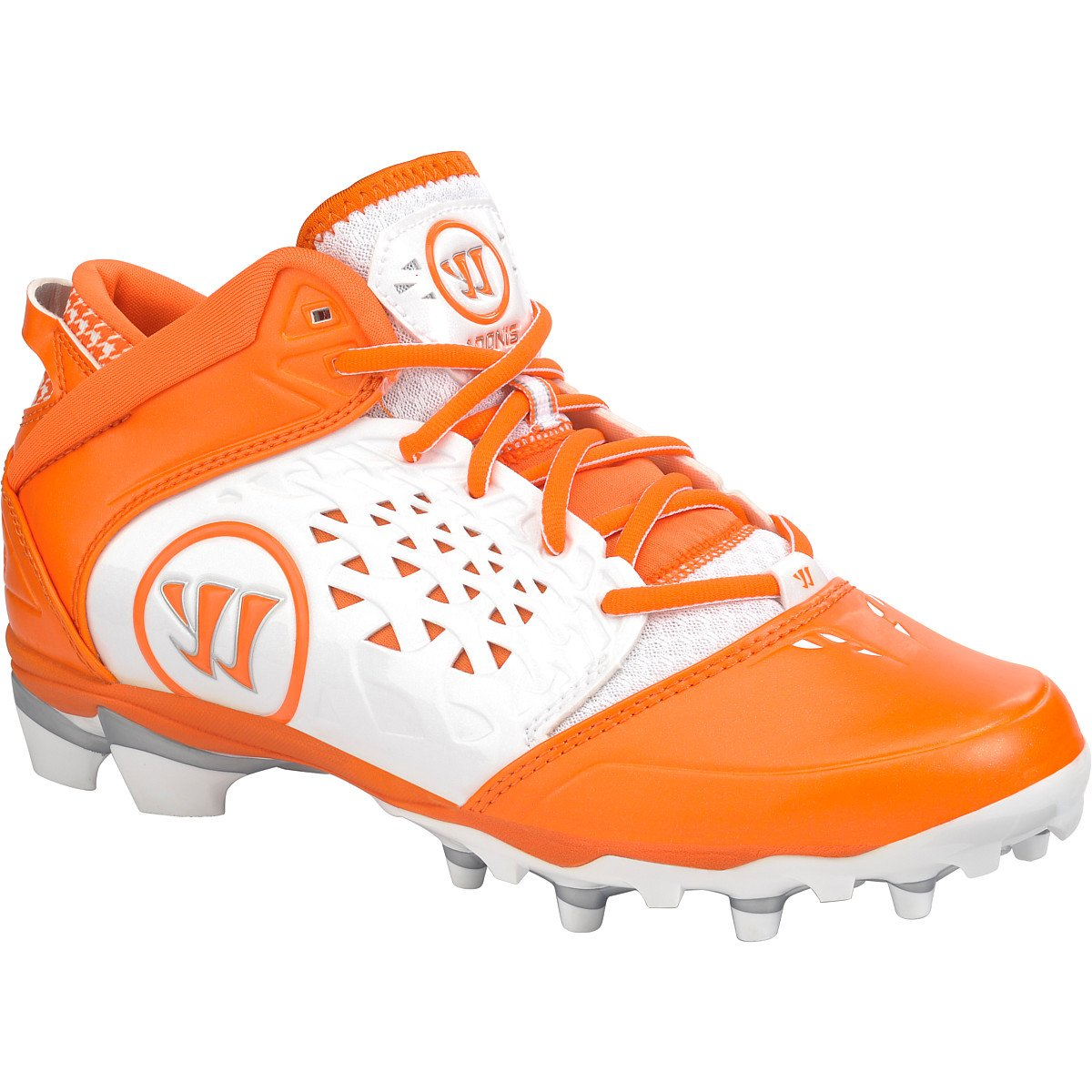 WARRIOR New Mens Adonis Lacrosse Cleats White/Orange Sz 10 M by WARRIOR