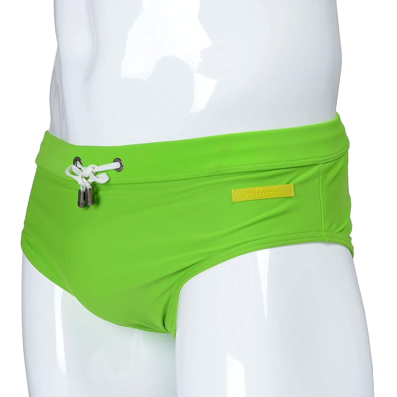 44a24cbedb90d Versace Collection Green Drawstring Men's Swim Briefs Sz M | Amazon.com