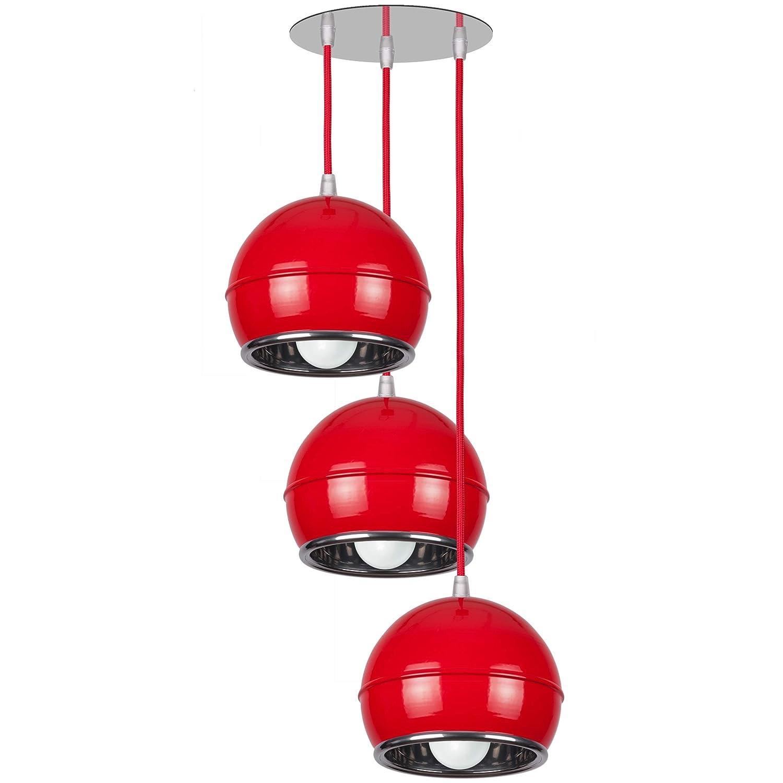 NAPA 3A Moderne Pendellampe Hängelampe Hängelampe Hängelampe Art-Deco Design Lampe (Rot) 1881d2
