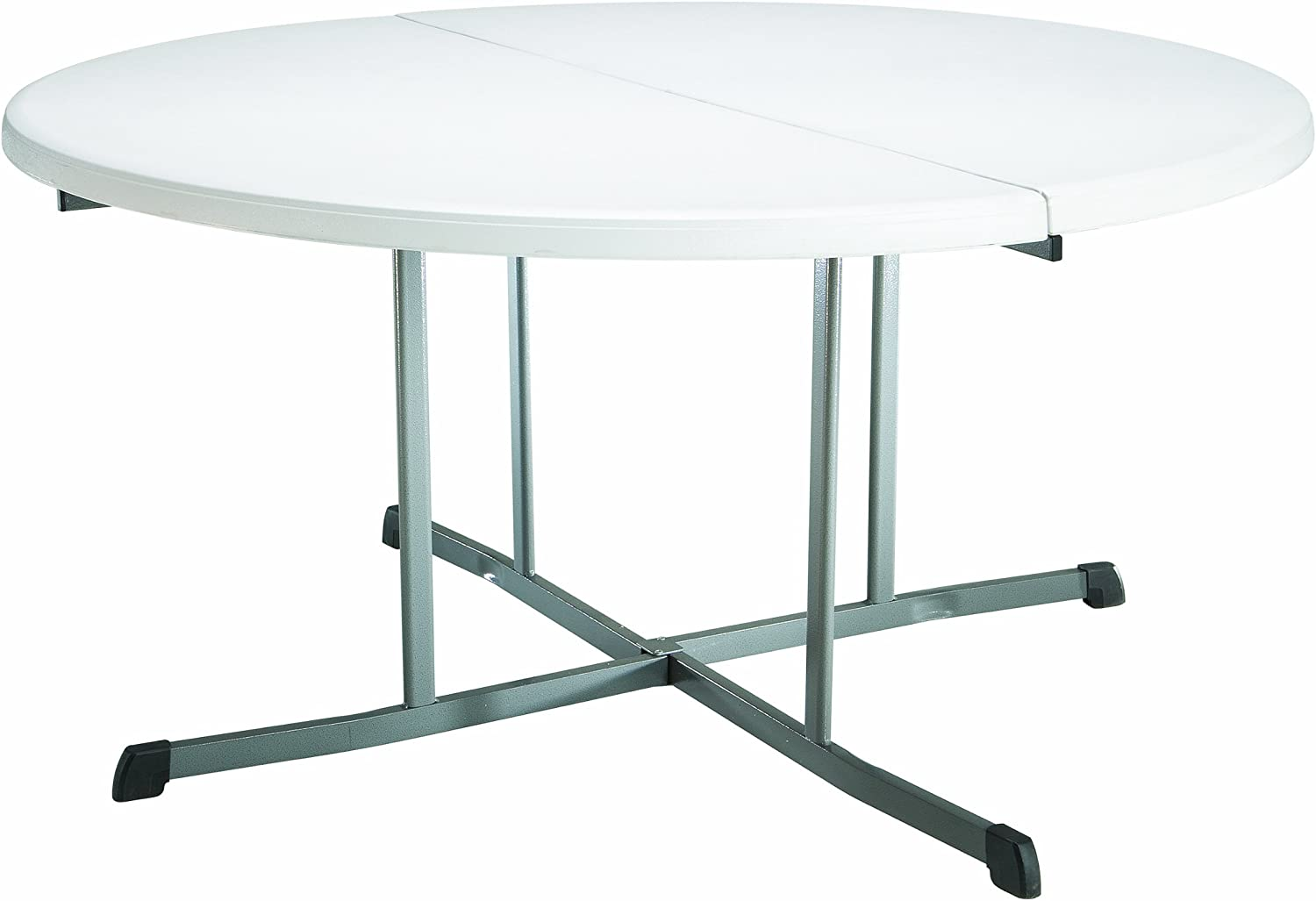 - Amazon.com : Lifetime 25402 Commercial Round Fold In Half Table, 5