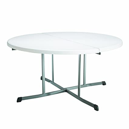 Terrific Lifetime 25402 Commercial Round Fold In Half Table 5 Feet White Granite Download Free Architecture Designs Grimeyleaguecom