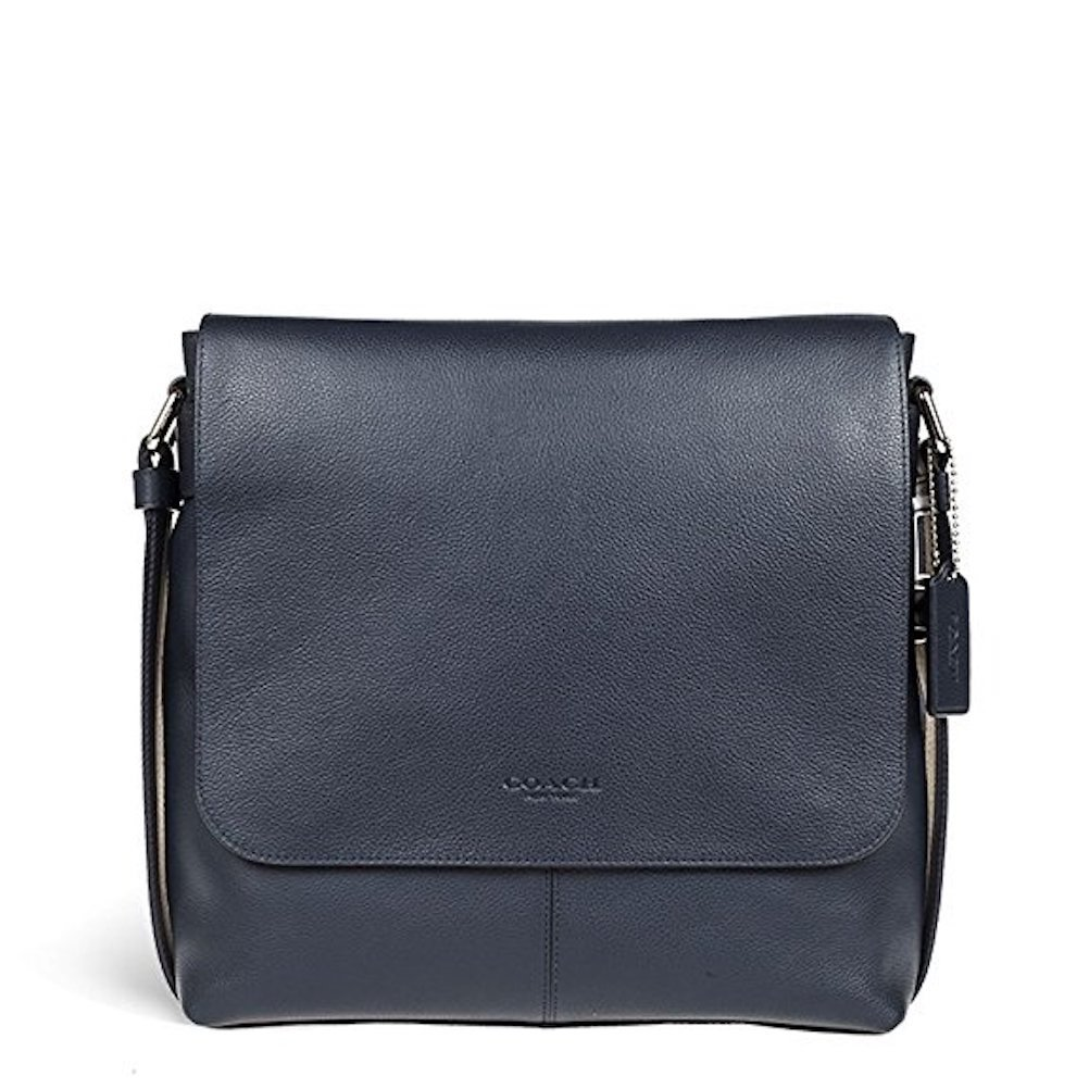 Coach SMALL MESSENGER IN SPORT CALF LEATHER (COACH F72362) MIDNIGHT